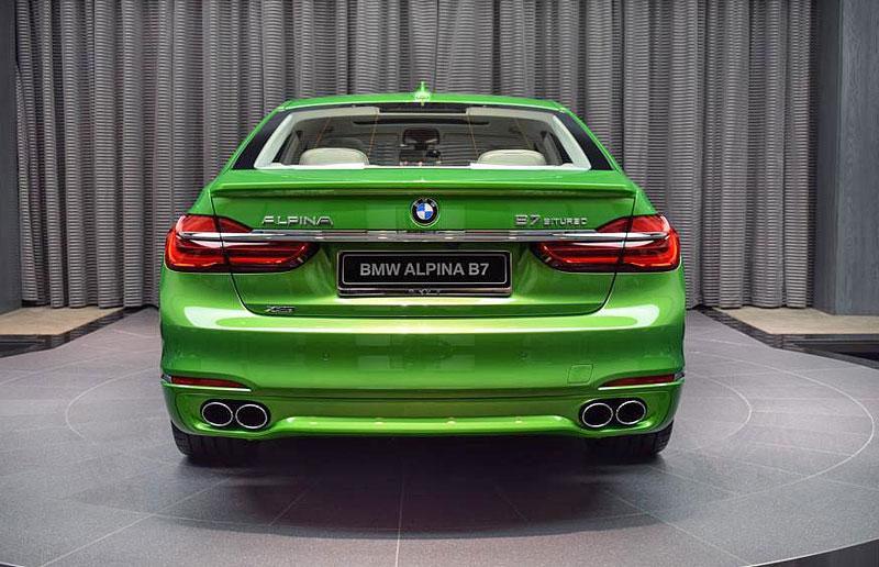Alpina B7: Sluší decentnímu sedanu jedovatě zelená, nebo je to už příliš?: - fotka 9