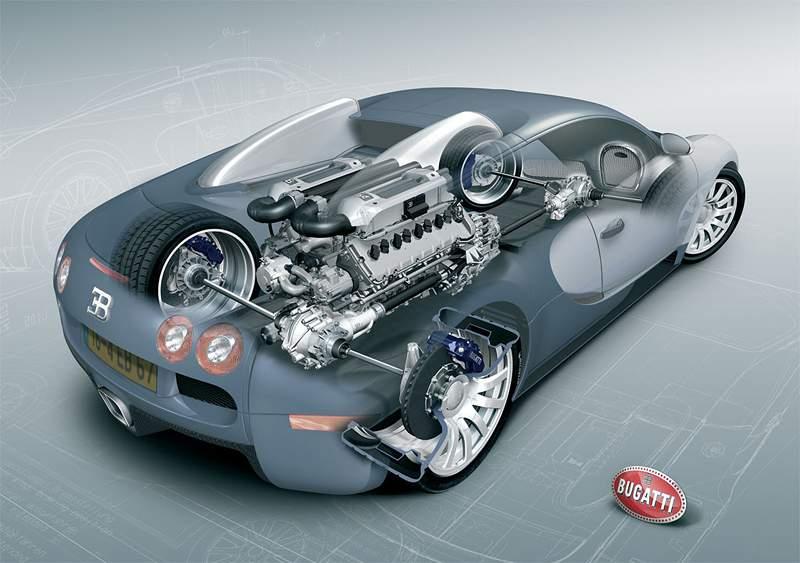 Pod lupou: Bugatti EB 16.4 Veyron - čtyři turba, 1000 koní: - fotka 63