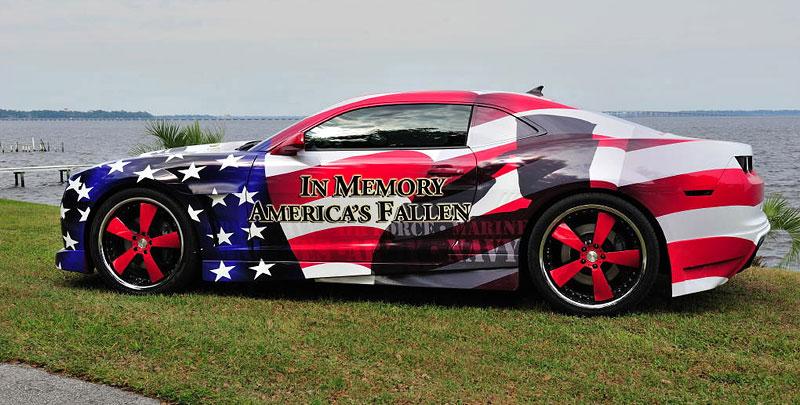 Chevrolet Camaro jako pocta padlým vojákům: - fotka 3