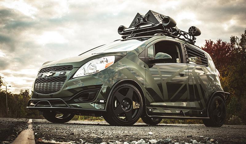 Enemy to Fashion Chevrolet Spark: vojenský speciál pro SEMA: - fotka 6