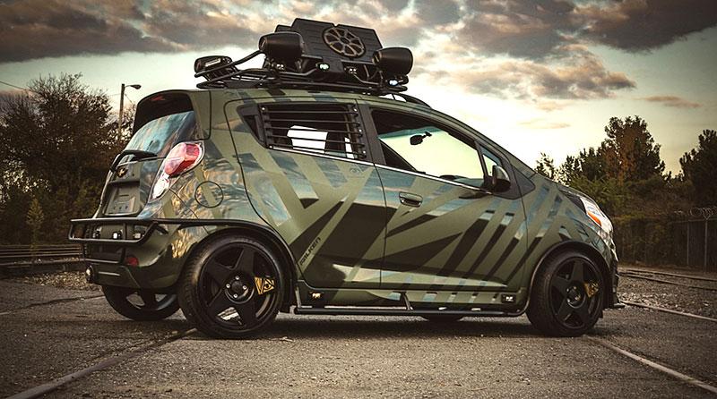 Enemy to Fashion Chevrolet Spark: vojenský speciál pro SEMA: - fotka 9