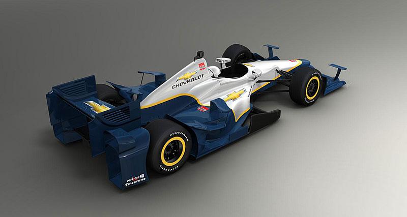 Chevrolet představil nový aero kit pro IndyCar (+video): - fotka 2