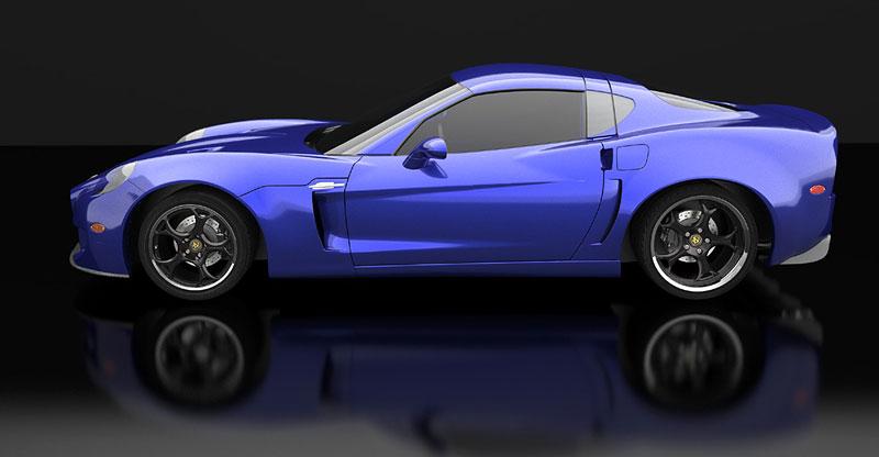 SV 9 Competizione: Corvette s italsky stylizovaným kabátem: - fotka 8