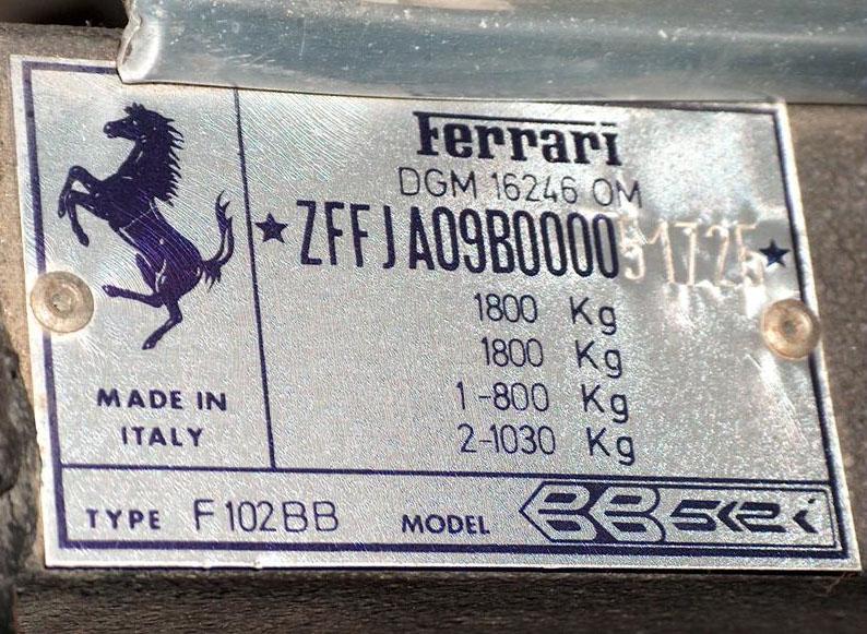 Ferrari 512 BBi slavného A. J. Foyta na prodej: - fotka 3