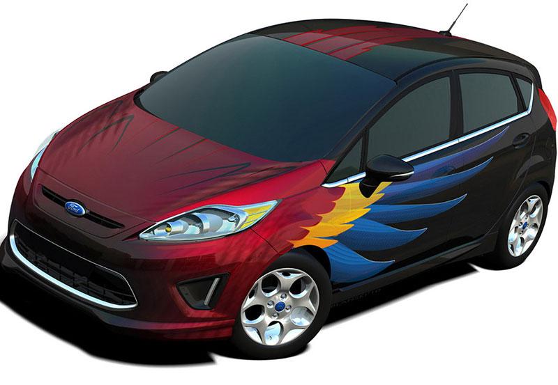 Ford Fiesta po americku: bodykity a polepy: - fotka 4