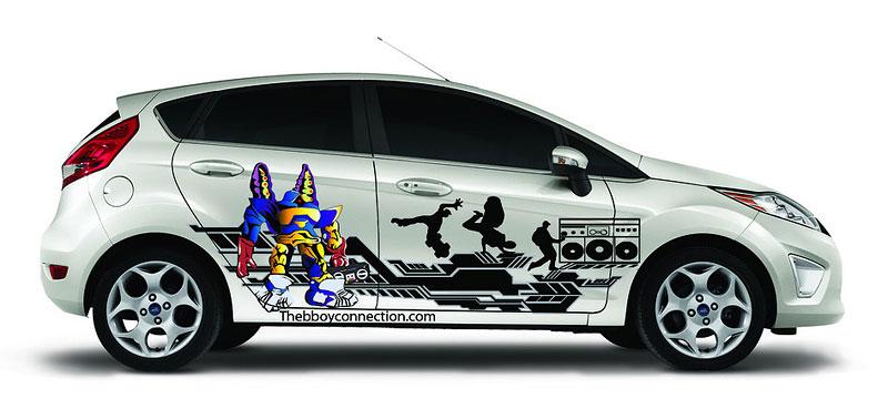 Ford Fiesta po americku: bodykity a polepy: - fotka 5
