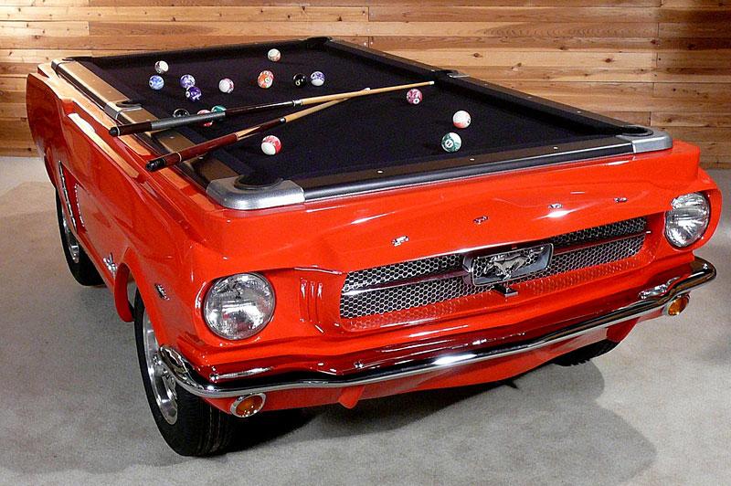 Mustang Pool Table: kulečníkový stůl pro fanoušky Fordu: - fotka 1