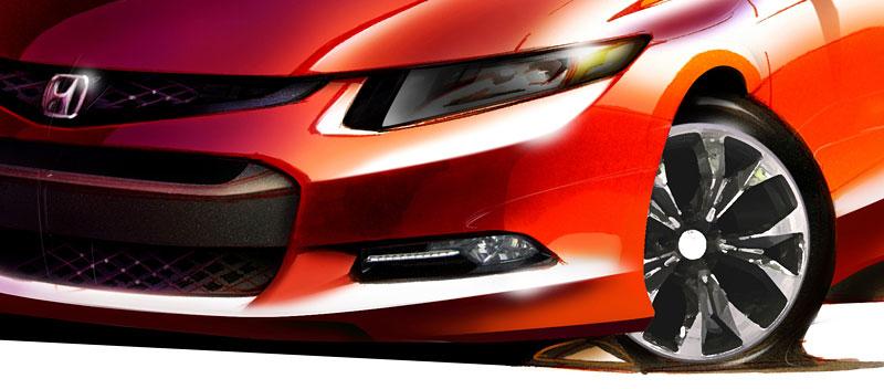 Honda Civic Coupe Concept ohlášena na detroitský autosalon: - fotka 2