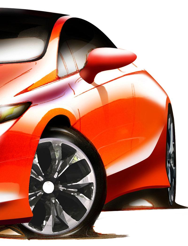 Honda Civic Coupe Concept ohlášena na detroitský autosalon: - fotka 3