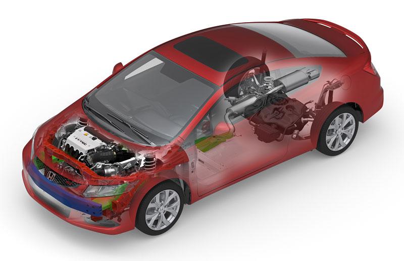 Honda Civic Si Coupe: ostrý civic pro Ameriku: - fotka 35