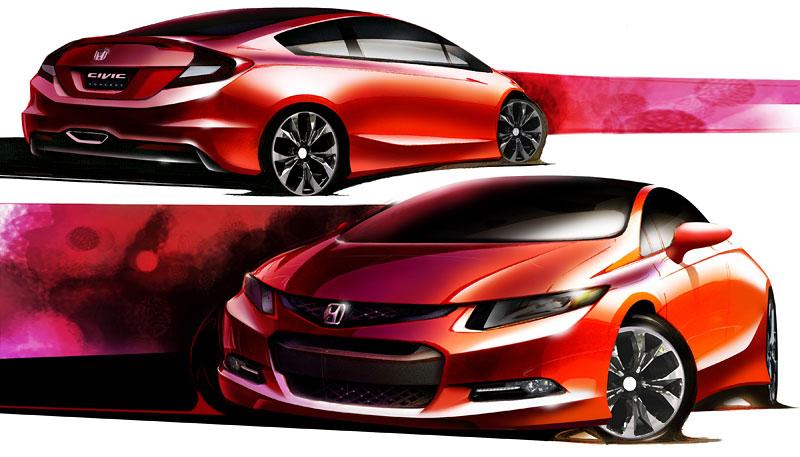 Detroit 2011: Honda Civic Si Coupe Concept: zpátky ve hře: - fotka 13