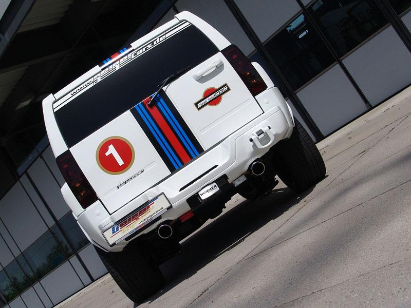 Hummer H3 V8: SUV s kompresorem v barvách Martini od GeigerCars: - fotka 6