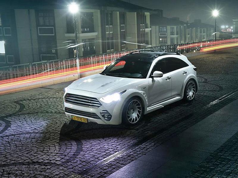 Infiniti QX70 proklatě blízko asfaltu: - fotka 3