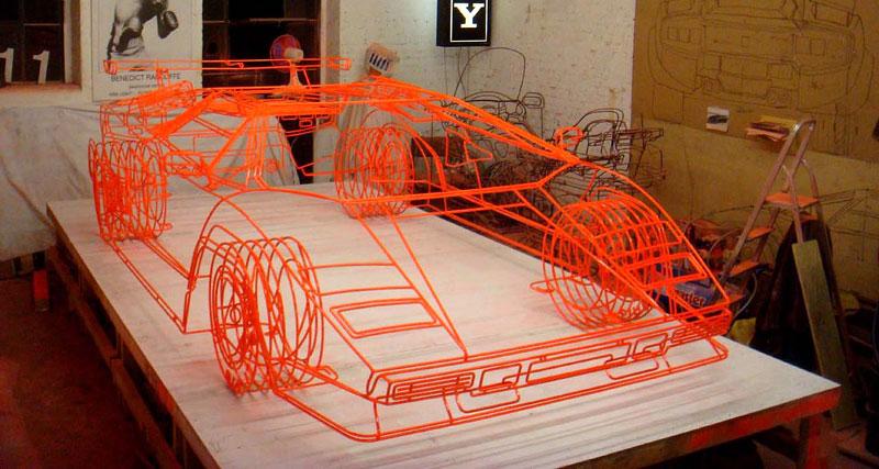 Lamborghini Countach z ocelových trubiček: Benedict Radcliffe opět na scéně: - fotka 1