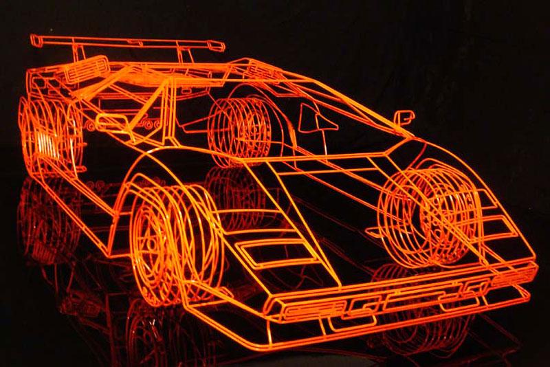 Lamborghini Countach z ocelových trubiček: Benedict Radcliffe opět na scéně: - fotka 2