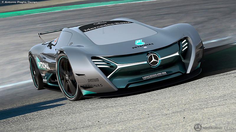 Mercedes-Benz ELK: Vize elektrického supersportu s trojcípou hvězdou: - fotka 4