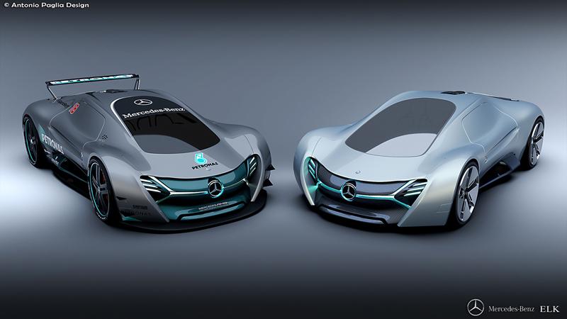 Mercedes-Benz ELK: Vize elektrického supersportu s trojcípou hvězdou: - fotka 5