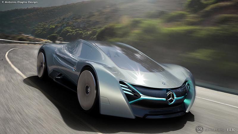 Mercedes-Benz ELK: Vize elektrického supersportu s trojcípou hvězdou: - fotka 7