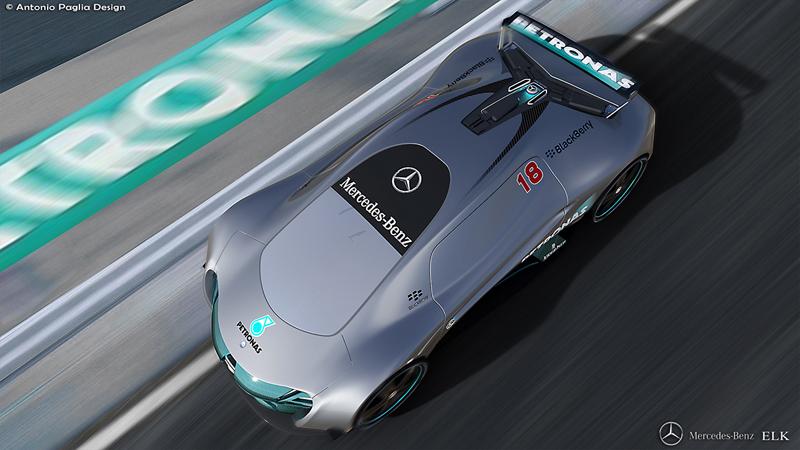Mercedes-Benz ELK: Vize elektrického supersportu s trojcípou hvězdou: - fotka 8