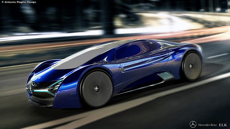Mercedes-Benz ELK: Vize elektrického supersportu s trojcípou hvězdou: - fotka 9