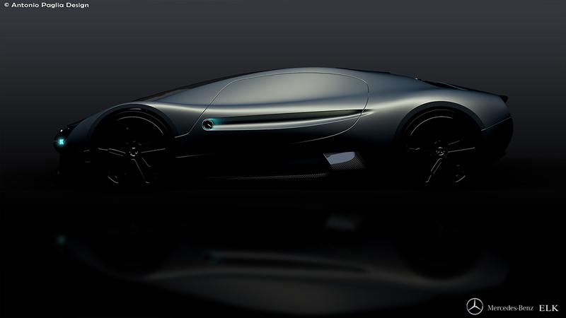 Mercedes-Benz ELK: Vize elektrického supersportu s trojcípou hvězdou: - fotka 11