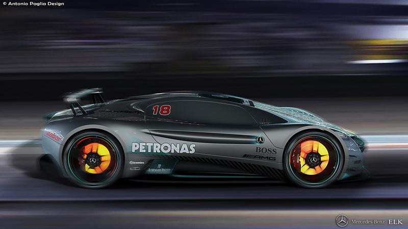 Mercedes-Benz ELK: Vize elektrického supersportu s trojcípou hvězdou: - fotka 12