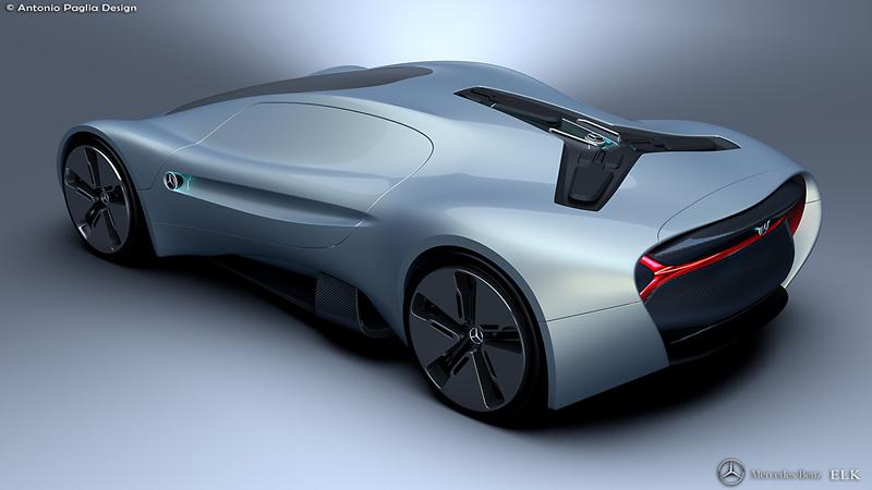 Mercedes-Benz ELK: Vize elektrického supersportu s trojcípou hvězdou: - fotka 14