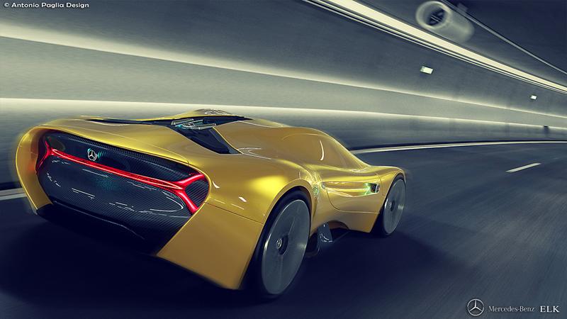 Mercedes-Benz ELK: Vize elektrického supersportu s trojcípou hvězdou: - fotka 15
