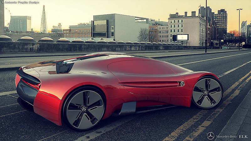 Mercedes-Benz ELK: Vize elektrického supersportu s trojcípou hvězdou: - fotka 17