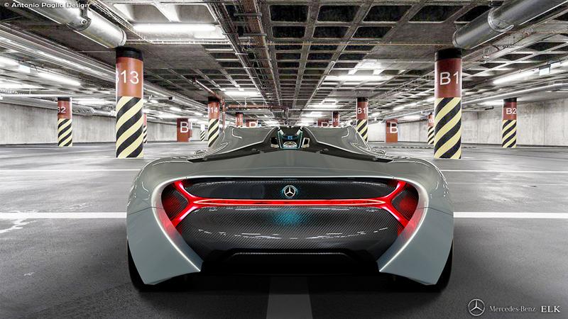 Mercedes-Benz ELK: Vize elektrického supersportu s trojcípou hvězdou: - fotka 20