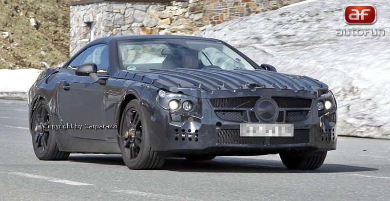 Spy Photos: Mercedes-Benz SL (C231) dostane automat s devíti: - fotka 1