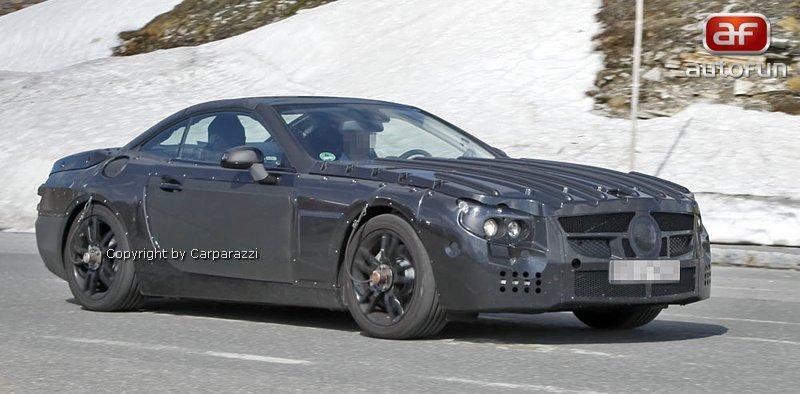 Spy Photos: Mercedes-Benz SL (C231) dostane automat s devíti: - fotka 3