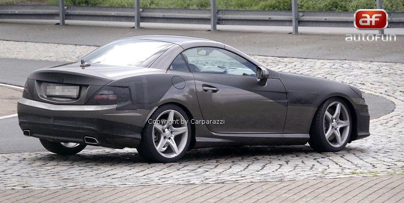 Spy Photos: Mercedes-Benz SLK (R172) - Poprvé i s turbodieselem: - fotka 5