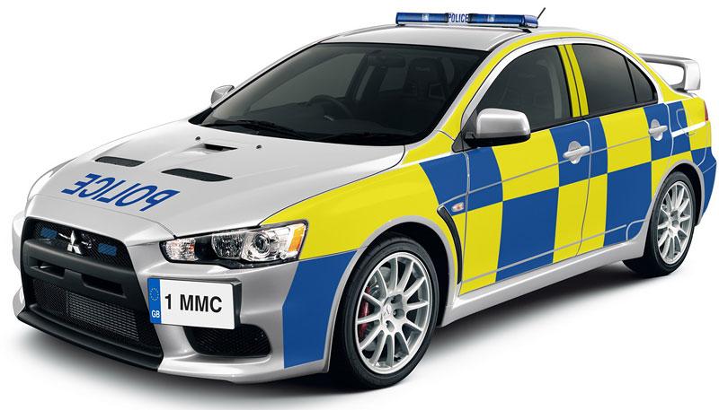 Mitsubishi EVO X: nové stíhací vozy pro anglickou policii?: - fotka 1