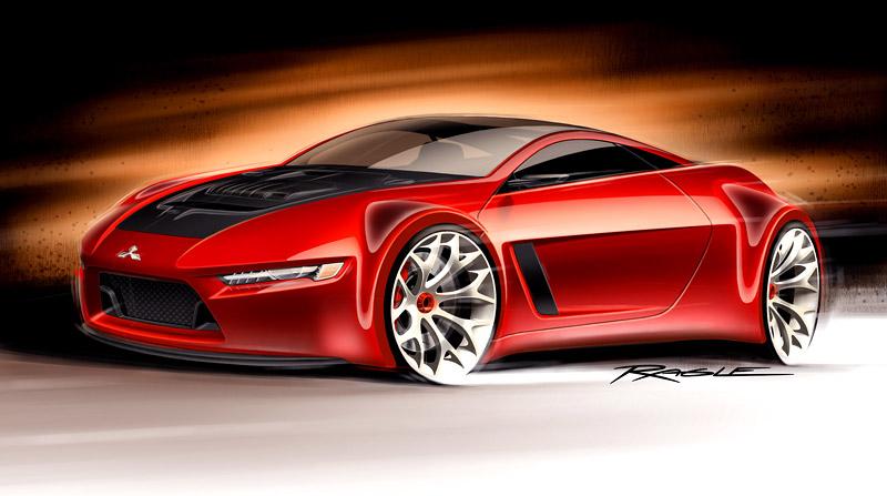 Mitsubishi Concept-RA: dieselové dvoumístné kupé: - fotka 1