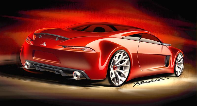 Mitsubishi Concept-RA: dieselové dvoumístné kupé: - fotka 2