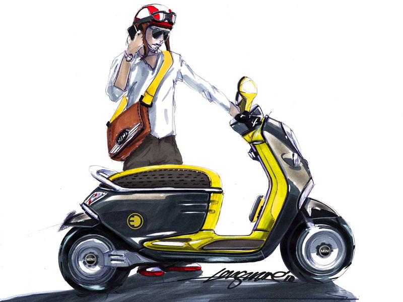 MINI Scooter E: Jednostopý koncept pro Paříž: - fotka 27
