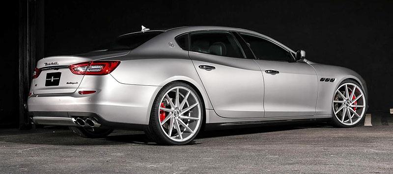 Maserati Quattroporte S Q4 s koly Vossen CVT: Stříbrný přízrak: - fotka 7