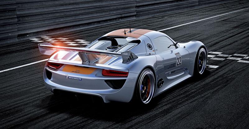 Detroit 2011: Porsche 918 RSR: hybridní závoďák se představuje: - fotka 16