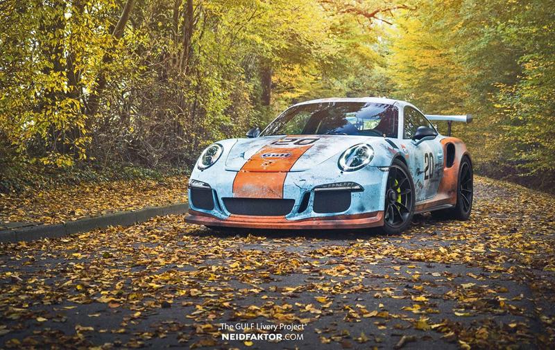 Porsche 911 GT3 RS se převléklo do barev Gulfu a zrezlo. Ale jenom naoko!: - fotka 2