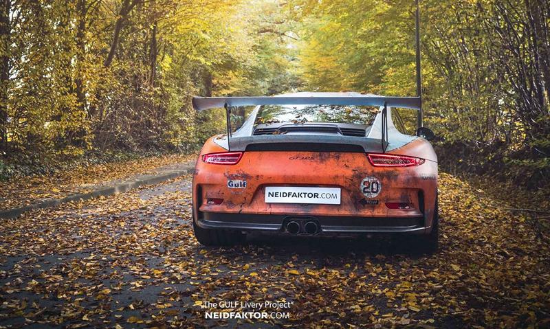 Porsche 911 GT3 RS se převléklo do barev Gulfu a zrezlo. Ale jenom naoko!: - fotka 5