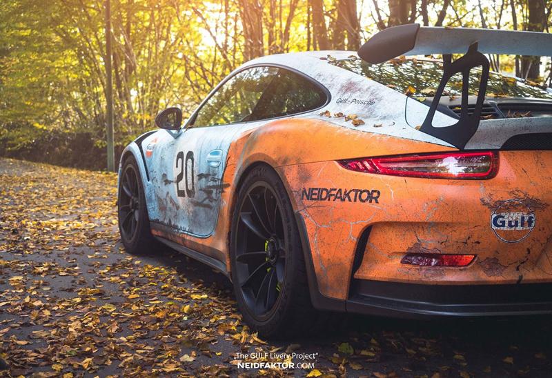 Porsche 911 GT3 RS se převléklo do barev Gulfu a zrezlo. Ale jenom naoko!: - fotka 10