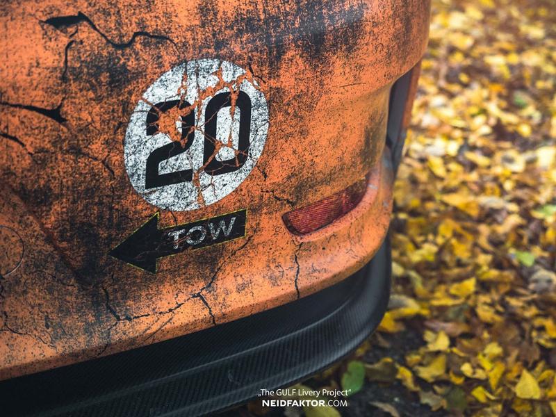 Porsche 911 GT3 RS se převléklo do barev Gulfu a zrezlo. Ale jenom naoko!: - fotka 11