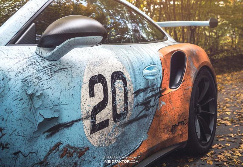 Porsche 911 GT3 RS se převléklo do barev Gulfu a zrezlo. Ale jenom naoko!: - fotka 14