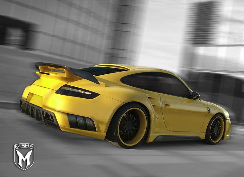 Porsche 911 Turbo: GTM aero kit od Misha Design: - fotka 4