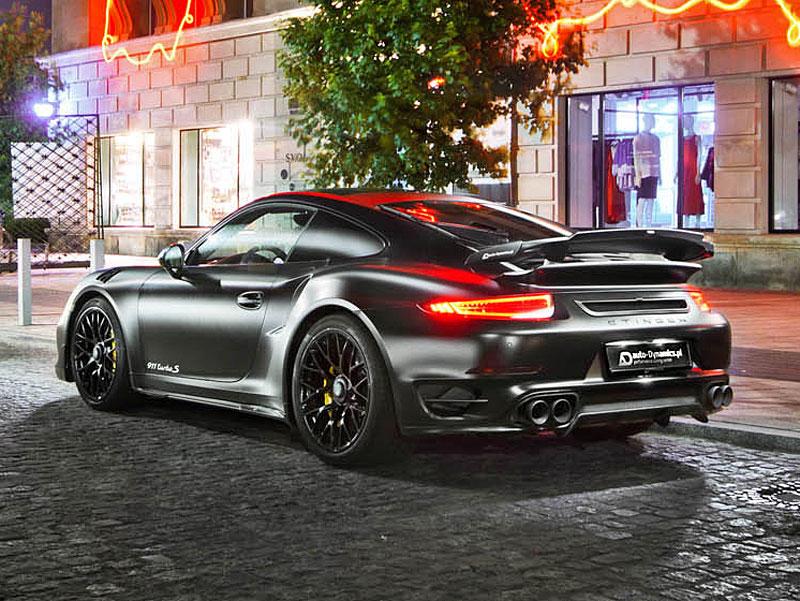Porsche 911 Turbo S jako Dark Knight z Polska: - fotka 7