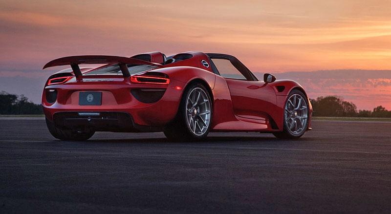 Rudé Porsche 918 na kolech HRE: Kalifornský pozdrav do Maranella: - fotka 6