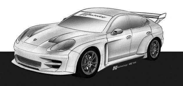 Závodní Porsche Panamera již brzy k vidění i na okruzích: - fotka 1