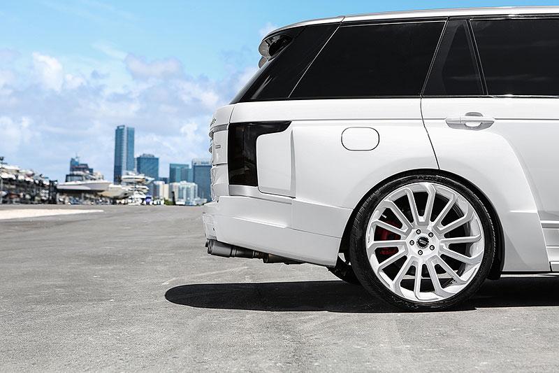 Range Rover od MC Customs: Bílá brutalita: - fotka 8