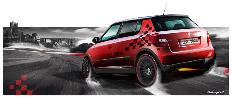 Autosalon Ženeva: Škoda Fabia Sports Design Concept: - fotka 21